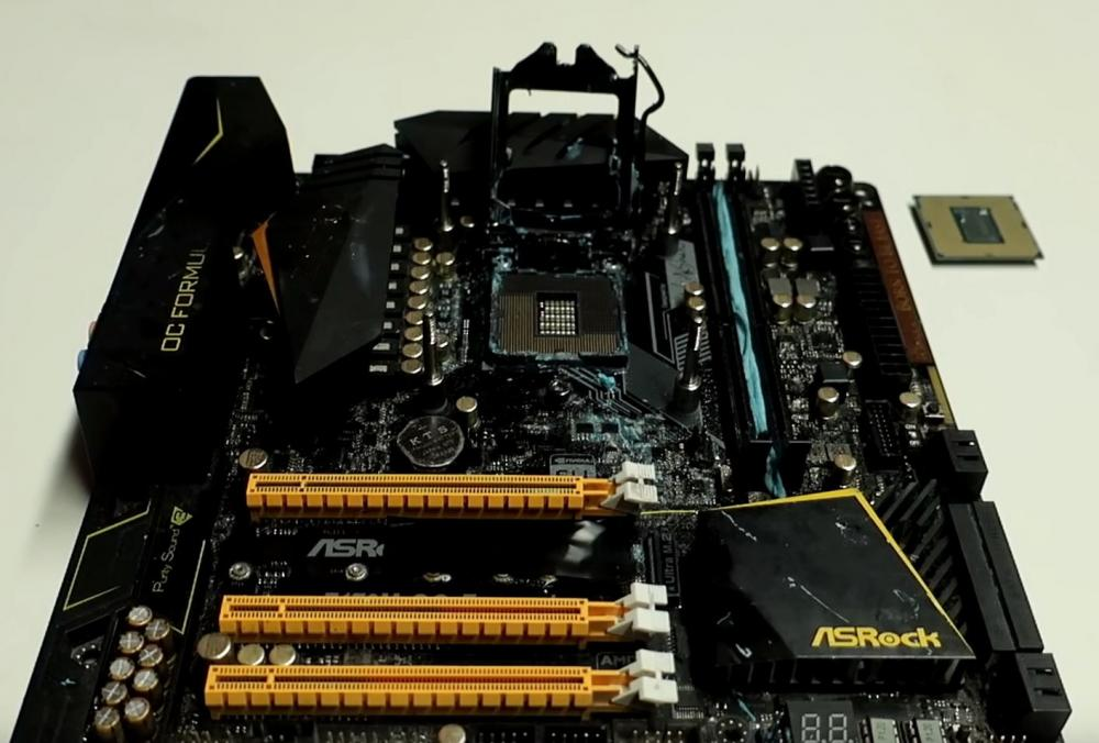core i9 9900k achieves 5 50 ghz overclock on a z170 chipset motherboard 1
