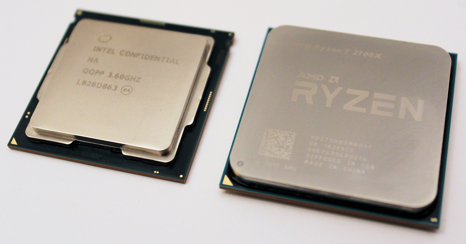 intel core i9 9900k vs amd ryzen 7 2700x