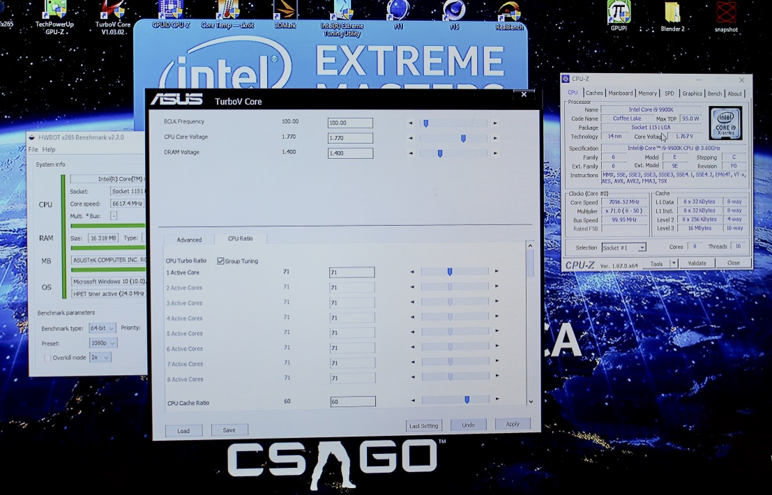 overclocking show 9900k at 7 ghz